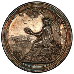 RUSSIAN EMPIRE: Alexander II, 1855-1881, AR medal, 1871. PCGS MS61