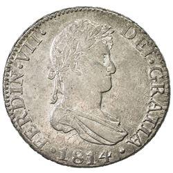 SPAIN: Fernando VII, 2nd reign,1813-1833, AR 8 reales, 1814-C
