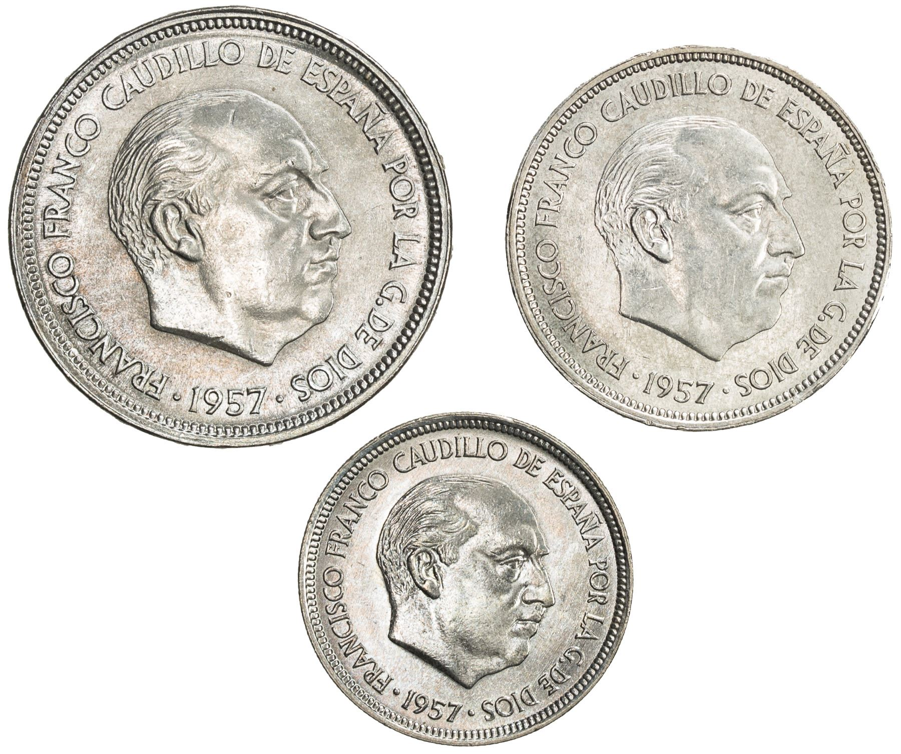 SPAIN: SET of three coins for the 2nd Ibero-American