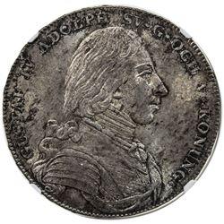 SWEDEN: Gustav IV Adolph, 1792-1809, AR riksdaler, 1805, NGC MS64