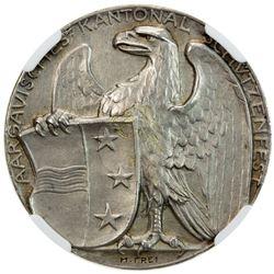 AARGAU: AR medal, 1908. NGC MS62