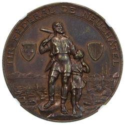 NEUCHATEL: AE medal, 1898. NGC MS62
