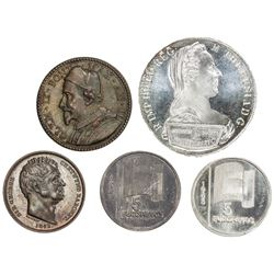 EUROPE: LOT of five coins