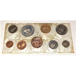 MAURITIUS: 9-coin proof set, 1971