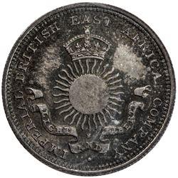 MOMBASA: Victoria, 1887-1895, AR 1/4 rupia (4 annas), 1890-H. ICCS MS65