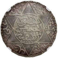 MOROCCO: Moulay al-Hasan, 1873-1894, AR 5 dirhams, Paris, AH1309. NGC MS63
