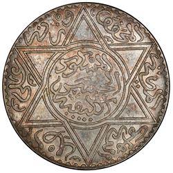 MOROCCO: Moulay al-Hasan, 1873-1894, AR 10 dirhams (rial), Paris, AH1299. PCGS MS62