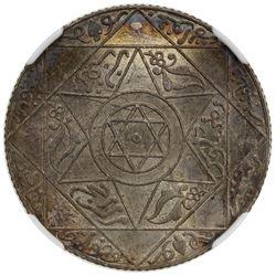 MOROCCO: 'Abd al-'Aziz, 1894-1908, AR 2 1/2 dirhams, Paris, AH1318. NGC MS64