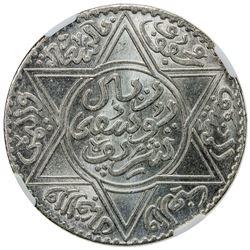 MOROCCO: Yusef, 1912-1927, AR 10 dirhams (rial), Paris, AH1336. NGC MS65
