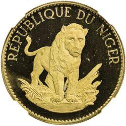 NIGER: AV 50 francs, 1968. NGC PF65