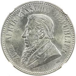SOUTH AFRICA: Zuid-Afrikaansche Republiek, AR 2 1/2 shillings, 1897. NGC MS63