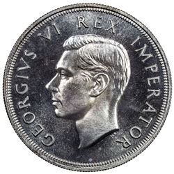 SOUTH AFRICA: George VI, 1936-1952, AR 5 shillings, 1947. PF