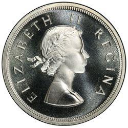 SOUTH AFRICA: Elizabeth II, 1952-1961, AR 5 shillings, 1959