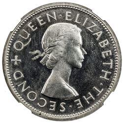 SOUTHERN RHODESIA: Elizabeth II, 1952-1966, AR crown, 1935. NGC PF63