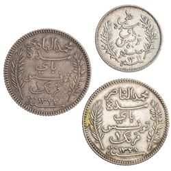 TUNISIA: LOT of three coins
