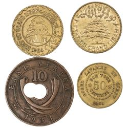 AFRICA & MIDDLE EAST: LOT of four coins
