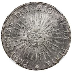 ARGENTINA: Rio de la Plata, AR 8 reales, 1815-PTS. NGC AU53