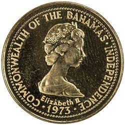 BAHAMAS: Elizabeth II, 1952, AV 100 dollars (5.42g), 1976. PF