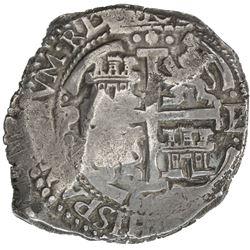 BOLIVIA: Felipe IV, 1621-1665, cob 8 reales (25.12g), Potosi, 1664. VF