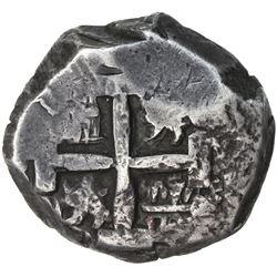 BOLIVIA: Carlos III, 1759-1788, AR 8 reales cob, (1)771-P. VF