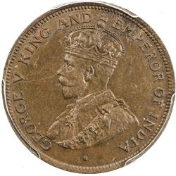 BRITISH HONDURAS: George V, 1910-1936, cent, 1914. PCGS MS63