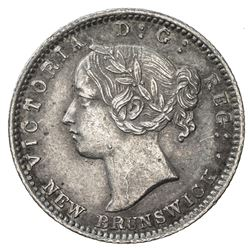 NEW BRUNSWICK: Victoria, 1837-1901, AR 10 cents, 1864. EF