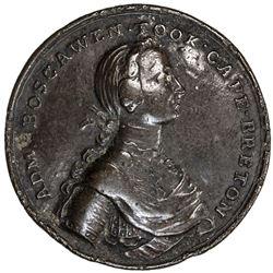 CANADA: AE medal, 1758. F-VF