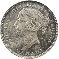 CANADA: Victoria, 1837-1901, AR 10 cents, 1888. NGC MS63
