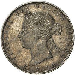 CANADA: Victoria, 1837-1901, AR 50 cents, 1870. EF