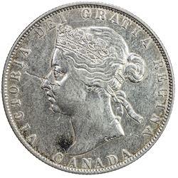 CANADA: Victoria, 1837-1901, AR 50 cents, 1890-H. VF-EF