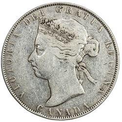 CANADA: Victoria, 1837-1901, AR 50 cents, 1894. F