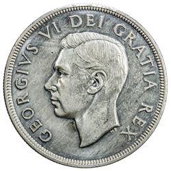 CANADA: George VI, 1936-1952, AR dollar, 1948. EF-AU