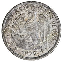 CHILE: Republic, AR peso, 1877-So. UNC