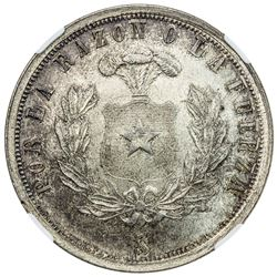 CHILE: Republic, AR medal, 1925-So. NGC MS64