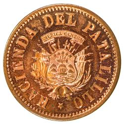 COSTA RICA: AE 2 reales token (2.80g), ND [ca. 1940s]. SP