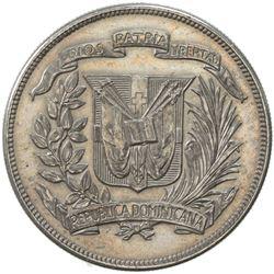 DOMINICAN REPUBLIC: Republic, AR peso, 1939. UNC
