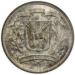 DOMINICAN REPUBLIC: Republic, AR peso, 1952. NGC MS65