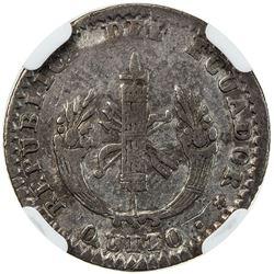 ECUADOR: Republic, AR real, Quito, 1836. NGC VF25