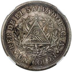 EL SALVADOR: Republic, AR colon, 1925-Mo. NGC MS65