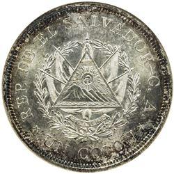 EL SALVADOR: Republic, AR colon, 1925-Mo. ANACS MS64