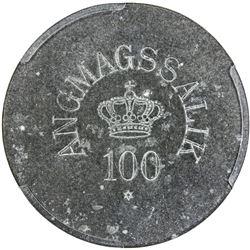 GREENLAND: Angmagssalik: zinc 100 ore token, ND. PCGS MS62