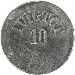 GREENLAND: Ivigtut: zinc 10 ore token, ND. PCGS MS61