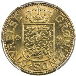 GREENLAND: 50 øre, 1926, KM-7, initials HCN-GJ, PCGS graded MS66