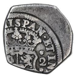 GUATEMALA: Felipe V, 1724-1746, AR 2 reales (6.51g), 1737-G. F-VF