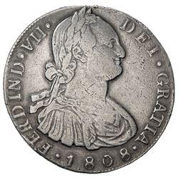 GUATEMALA: Carlos IV, 1788-1808, AR 8 reales, 1808-NG. VF