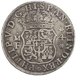 MEXICO: Felipe V, 1700-1746, AR 4 reales, 1742/1-Mo. VG-F