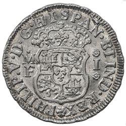 MEXICO: Felipe V, 2nd reign, 1724-1746, AR real, 1738/58-Mo. AU