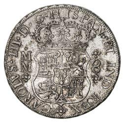 MEXICO: Carlos III, 1759-1788, AR 8 reales, 1762-Mo. EF