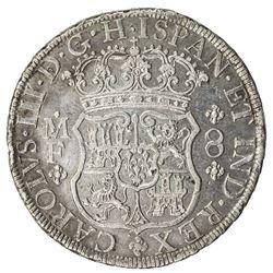 MEXICO: Carlos III, 1759-1788, AR 8 reales, 1769-Mo. EF
