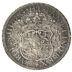 MEXICO: Carlos III, 1759-1788, AR 8 reales, 1771-Mo. EF